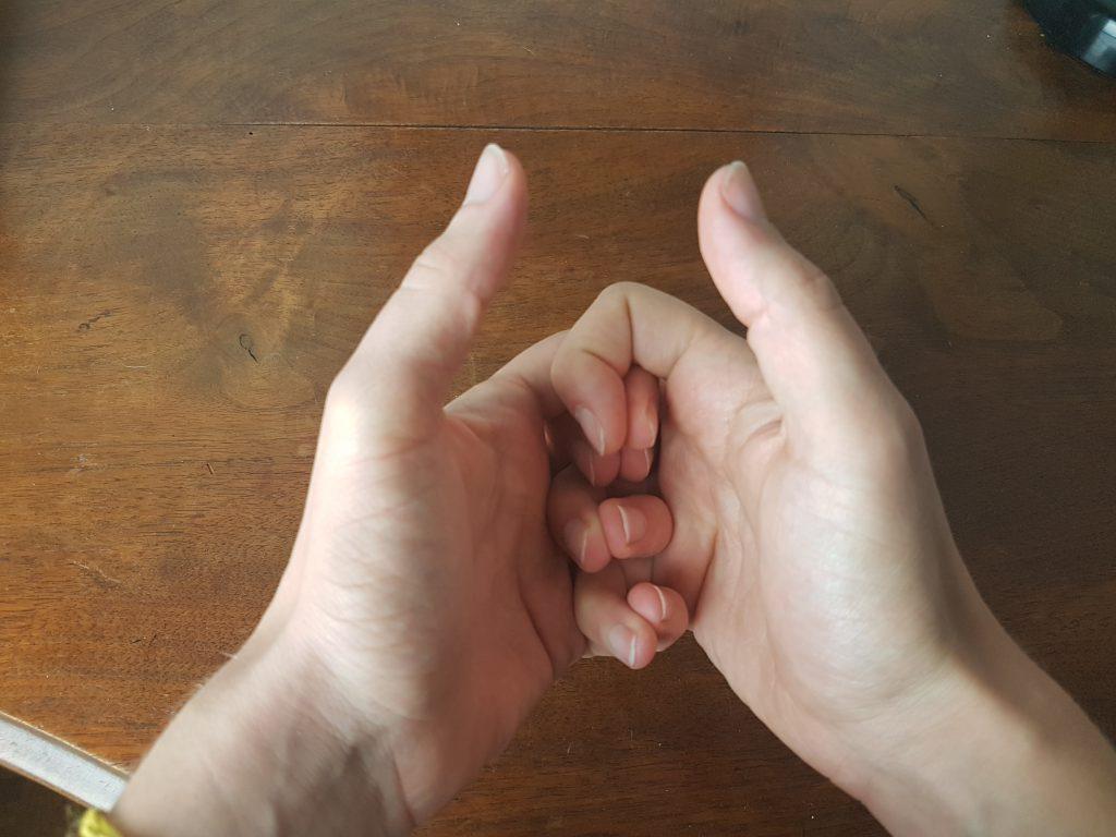 main croisé respiration alternée deux main