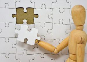 puzzle mémoire bonhomme bois