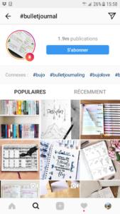 instagram bulletjournal