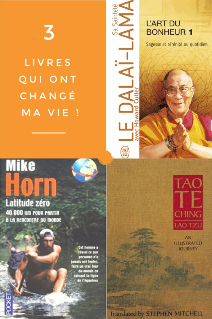 3 livres pour transformer votre vie